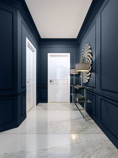 Serene Hue - Sherwin Williams' 2020 Color Of The Year Is Here - Lonny Effektive. Serene Hue – Sherwin Williams' 2020 Color Of The Year Is Here – Lonny Effektive Bilder, die Home Interior Design, Interior Decorating, Interior Wall Colors, Trending Paint Colors, Hallway Designs, Color Of The Year, Room Colors, House Painting, Painting Walls