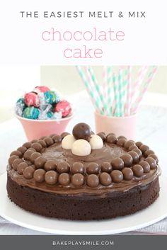 Melt and Mix Chocolate Cake