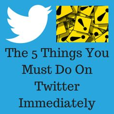 The Five Things You Must Do On Twitter Immediately | Marc's Blog http://marcguberti.com/2014/11/twitter-immediately/?utm_campaign=crowdfire&utm_content=crowdfire&utm_medium=social&utm_source=pinterest