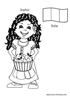 christmas in italy coloring pages - photo#25