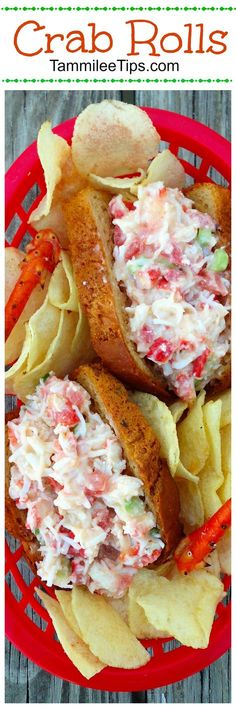 Hot Crab Rolls and Sliders Sandwich Recipe are the perfect summer lunch or dinner. Easy to make, Tastes amazing, and oh so delicious - Hot Crab Rolls and Sliders Sandwich Recipe are the perfect summer lunch or dinner. Crab Sandwich, Soup And Sandwich, Sandwich Recipes, Chicken Sandwich, Crab Salad Sandwich Recipe, Vegan Sandwiches, Crab Dishes, Seafood Dishes, Dinner Dishes