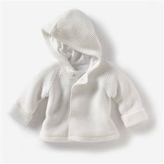 Baby's Unisex Knitted Cotton-Rich Cardigan