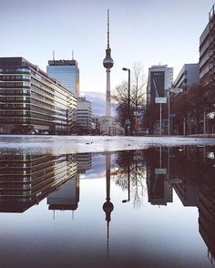 Our first picture of #thattoweragain since three weeks. A good reason to show you our beloved icon doubled today. #visit_berlin #berlin365