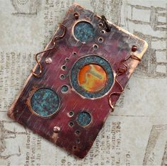 Hand Forged Pendant Component  Steampunk by SunStones on Etsy, $22.00