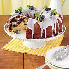 Blueberry Lemon Cake - Microwave Cake Recipe using Tupperware products.