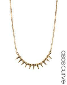 ASOS CURVE Mini Spike Choker Necklace