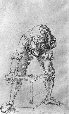 Durer, Study of Man with Drill