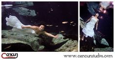 Cancun Underwater trash the dress