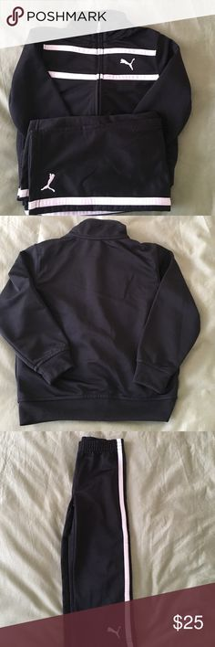 Toddler tracksuit Toddler size 3T. Full zipper jacket and matching pants. Gently worn. No holes, worn out spots or smells. Puma Jackets & Coats