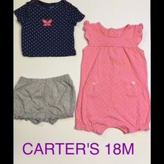 I just discovered this while shopping on Poshmark: GIRLS CARTER 18M BUNDLE OF 3…