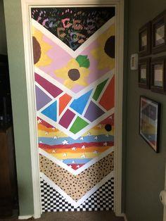 Cute Canvas Paintings, Small Canvas Art, Mini Canvas Art, Diy Canvas, Painted Bedroom Doors, Art Room Doors, Painted Doors, Cute Room Decor, Room Wall Decor