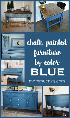 Chalk Painted Furniture by Color Series - BLUE chalk painted furniture projects | www.mydiyenvy.com