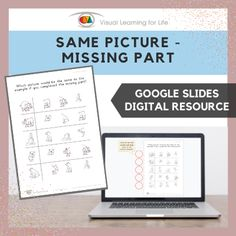 This digitally interactive resource is designed for use with Google Slides. This resource contains 10 slides in total. Answer sheets are included.The student must identify which picture would be the same as the example if it were completed, and drag the red circles to mark the correct answers.