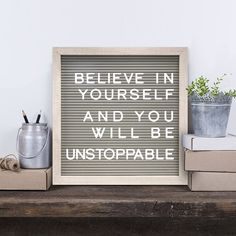 New View 12 x 12 Gray Letter Board Wall Decor Set, Multicolor Great Quotes, Quotes To Live By, Me Quotes, Inspirational Quotes, Qoutes, Motivational Letter, Motivational Monday, Coach Quotes, Vinyl Quotes