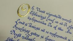Romanian poem complete with gold leaf all ready to send to another very happy customer.