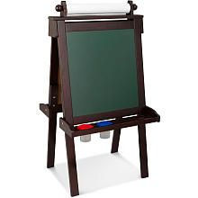 KidKraft Deluxe Wooden Easel: Espresso $130 Awesome! Have to get some chalk for this too!