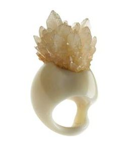 Christine J. Brandt Chica Dee Ring, Tagua Nut and Calcite