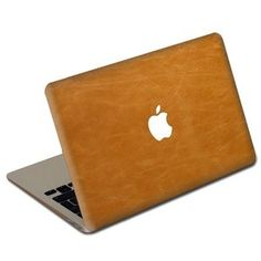 Tan leather Macbook cover