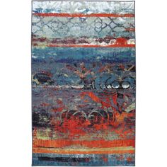 @Overstock.com - Eroded Color Multi Rug (8' x 10') - This design features a color pallet of vivid blues and vibrant oranges.The abstract pattern is a great foundation for contemporary design. This machine uses many colors to create a wonderfully designed, durable, vibrant rug that is applicable to any room.  http://www.overstock.com/Home-Garden/Eroded-Color-Multi-Rug-8-x-10/8278935/product.html?CID=214117 $197.99