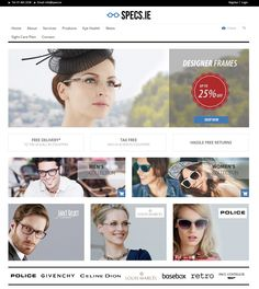 New demo design for specs .ie   For more great opticians websites visit www.opticommerce.co.uk