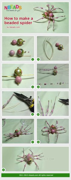 to Make A Beaded Spider diy crafts easy crafts diy crafts diy decor easy diy kids crafts craft decorations craft bracelet Beaded Crafts, Wire Crafts, Jewelry Crafts, Beading Projects, Beading Tutorials, Christmas Spider, Diy Crafts For Kids Easy, Bijoux Fil Aluminium, Diy Bracelets Easy