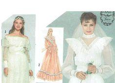 Vintage 1980s Wedding Dress Pattern Uncut by RebeccasVintageSalon, $8.00
