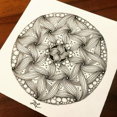 Hand Drawn Zentangle Doodle Drawings. By Lisa Chang.