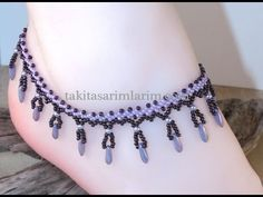 How to Make Halal Beads Halay Designs Beaded Sandals, Beaded Anklets, Beaded Necklace, Bead Loom Bracelets, Ankle Bracelets, Ankle Jewelry, Ankle Chain, Beaded Jewelry Patterns, Bead Jewellery