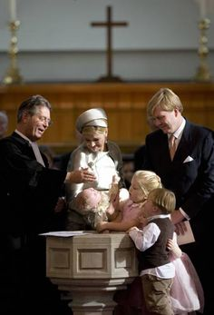 Princess Ariane of the Netherlands is baptized