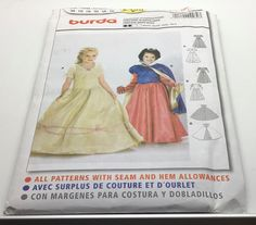 Burda 2480 Princess Belle Snow White Beauty