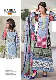 Hajiba Winter De Chiffon Lawn Collection 2013-14 for Women