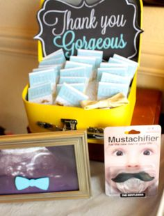 Little Man Baby Shower | CatchMyParty.com