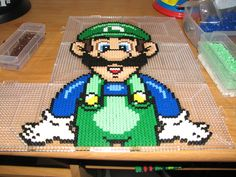Luigi perler beads by ndbigdi on deviantart