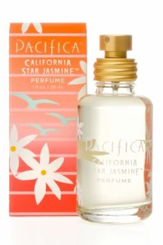 California Star Jasmine Spray Perfume  Fun, fresh and fantastic, Pacifica Spray Perfume is made with natural, pure grain alcohol (corn-sourced and gluten-free) and Pacifica's signature perfume blends with essential and natural oils and is always phthalate free. Dreamy with notes of star jasmine, orange and faint driftwood.