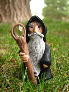 The old wizard. Polymer clay fantasy figurine. Geeky by Outpost8, $40.00