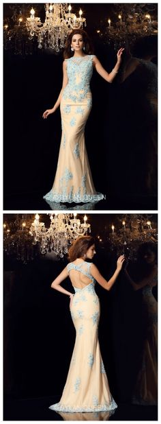 Hight-neck             high-neck &long evening dress with graceful lace  #dylanqueen