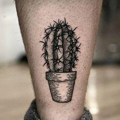 small cactus tattoo