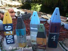 DIY Buoys for beach decorations