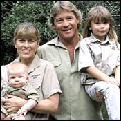 The late Steve Irwin. We all know he was an animal lover and great instructor for their care and handling. But - I enjoyed his love for his family more. It is what I will remember. The rest is just so much wildlife ... real life is the family as gave it.  The greatest gift a father can give his children is to love their mother.  For that Steve - hero!