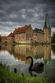 16th century Renaissance castle in Raesfeld, Germany