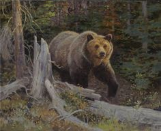 Grizzly bear painting by Ralph Oberg