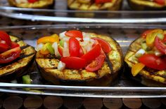 grilled eggplant with caponata salsa