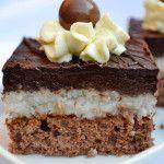 Čokoládovo-kokosové kocky - NajRecept.sk Baking Recipes, Cake Recipes, Dessert Recipes, Sweet Desserts, Sweet Recipes, Eastern European Recipes, Austrian Recipes, Czech Recipes, Gluten Free Cakes