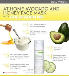 At-home avocado mask & honey face mask with