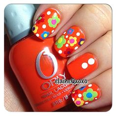 """Fun easy flowers using Orly."" Photo taken by @elaineqxoxo on Instagram, pinned via the InstaPin iOS App! http://www.instapinapp.com (02/03/2014)"