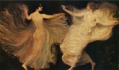 Dancers (Franz von Stuck)~ Love the flow of this.....