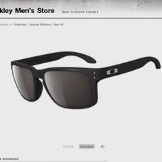 cheap oakleys 89ml  Flat black Oakleys $110