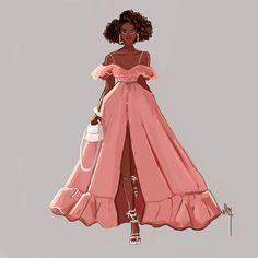 Black Love Art, Afro Art, Pink Art, Oeuvre D'art, Drawing, Black Girl Magic, Female Art, Her Style, Les Oeuvres