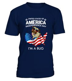 AMERICA INDEPENDENCE DAY BUG  Independence Day T-shirts