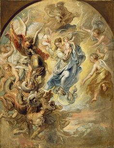 Peter Paul Rubens, Mary, mother of God, our Heavenly Queen, struggling against the enemies of the Church.